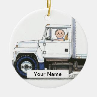 Ornamento De Cerâmica Camionista - homem