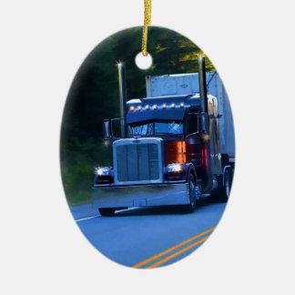 Ornamento De Cerâmica Camionistas, arte grande do caminhão da carga do