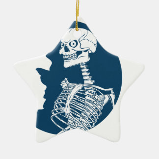 Ornamento De Cerâmica camisa da lua azul