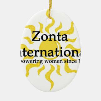 Ornamento De Cerâmica Camisa internacional de Zonta Sun