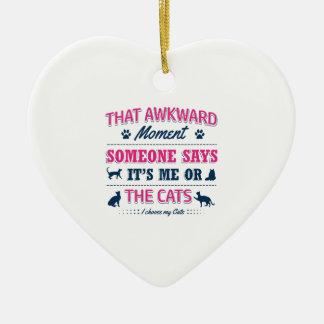 Ornamento De Cerâmica Camiseta do amante do gato