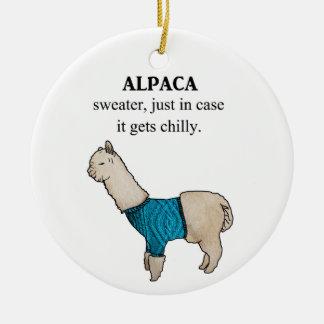 Ornamento De Cerâmica Camisola da alpaca só no caso que obtem fria