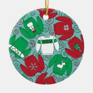 Ornamento De Cerâmica Camisolas da festa natalícia