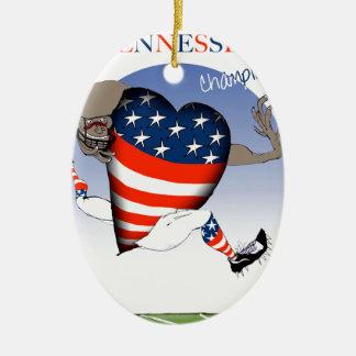 Ornamento De Cerâmica campeões do futebol de tennessee, fernandes tony