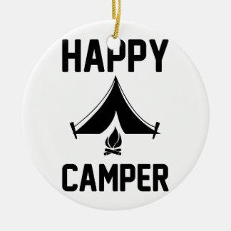 Ornamento De Cerâmica Campistas felizes