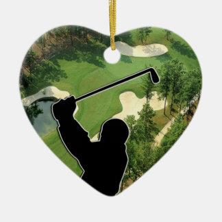 Ornamento De Cerâmica Campo de golfe