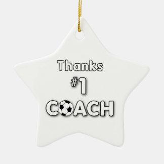Ornamento De Cerâmica Campo de grama do treinador do futebol dos