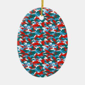 Ornamento De Cerâmica Camuflagem