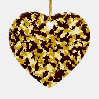 Ornamento De Cerâmica Camuflagem amarela