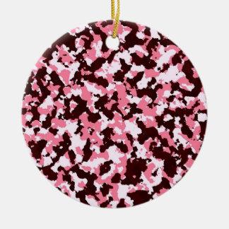 Ornamento De Cerâmica Camuflagem cor-de-rosa