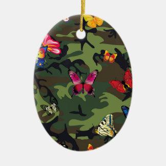 Ornamento De Cerâmica camuflagem da borboleta