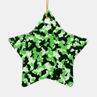 Ornamento De Cerâmica Camuflagem verde