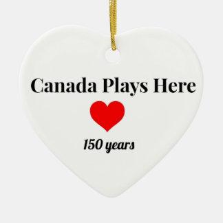 Ornamento De Cerâmica Canadá 150 em 2017 Canadá joga aqui
