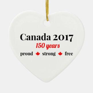 Ornamento De Cerâmica Canadá 150 em 2017 orgulhoso e livre