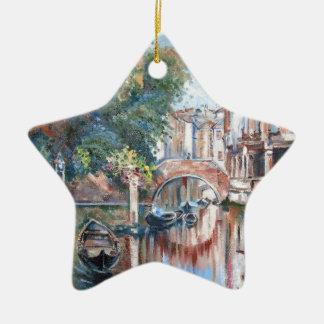 Ornamento De Cerâmica Canais de Veneza