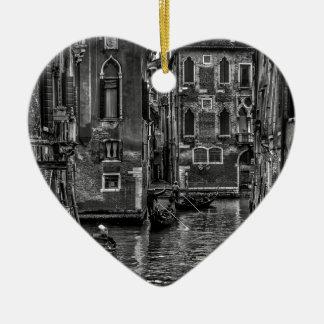 Ornamento De Cerâmica Canal do barco da gôndola de Veneza Italia