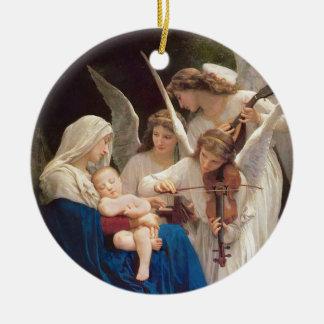 Ornamento De Cerâmica Canção do Natal dos anjos