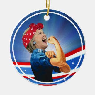 Ornamento De Cerâmica Candidato presidencial da ?a mulher de Hillary