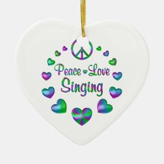 Ornamento De Cerâmica Canto do amor da paz