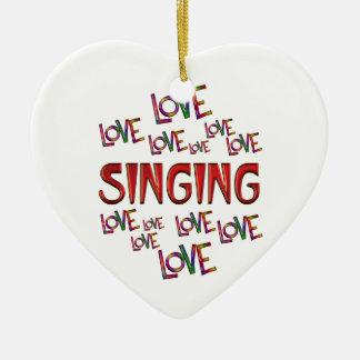 Ornamento De Cerâmica Canto do amor do amor