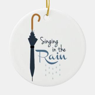 Ornamento De Cerâmica Canto na chuva