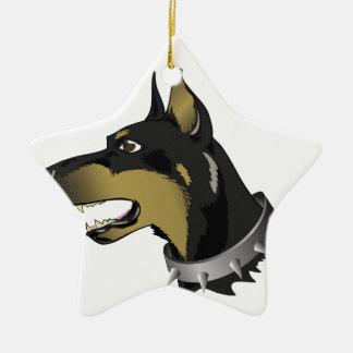 Ornamento De Cerâmica cão 96Angry _rasterized