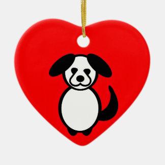 Ornamento De Cerâmica Cão da família da vara