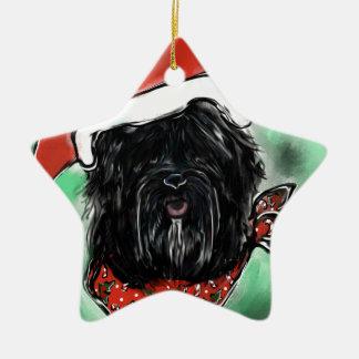 Ornamento De Cerâmica Cão da seda de Havana