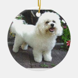 Ornamento De Cerâmica Cão de Bichon Frisé