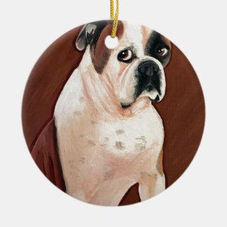 Ornamento De Cerâmica Cão de Bull do americano