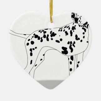 Ornamento De Cerâmica Cão de Dalmation