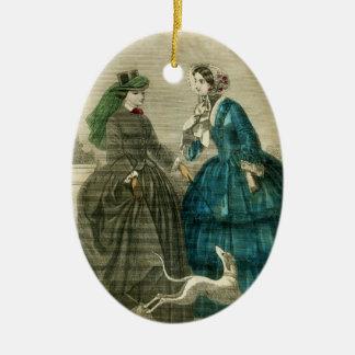 Ornamento De Cerâmica Cão de Edwardian do rico do Natal do Victorian do