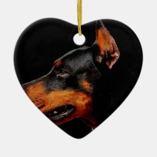 Ornamento De Cerâmica Cão de estimação do Doberman