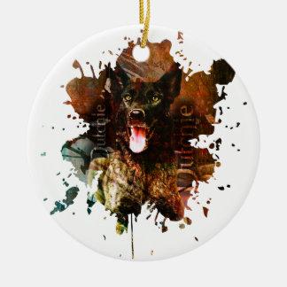 Ornamento De Cerâmica Cão de pastor holandês - Dutchie