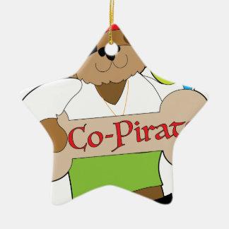 Ornamento De Cerâmica Cão do Co-Pirata