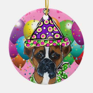 Ornamento De Cerâmica Cão do partido do cão do pugilista