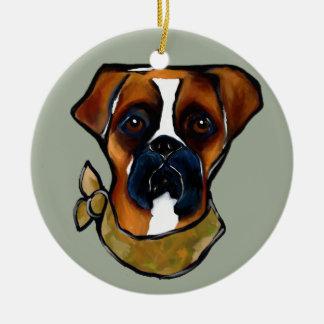 Ornamento De Cerâmica Cão do pugilista