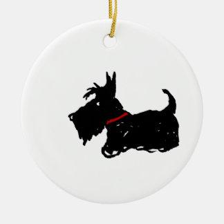 Ornamento De Cerâmica Cão do Scottie