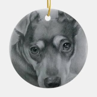 Ornamento De Cerâmica Cão doce