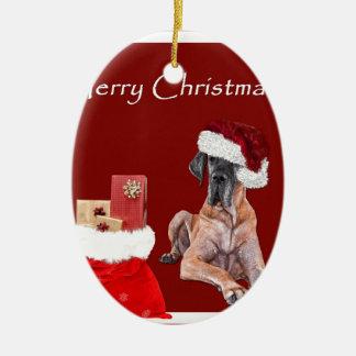 Ornamento De Cerâmica Cão great dane do Natal
