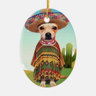 Ornamento De Cerâmica Cão mexicano, chihuahua