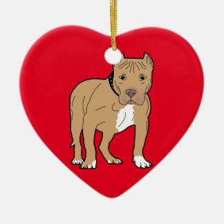 Ornamento De Cerâmica Cão personalizado de Pitbull do americano