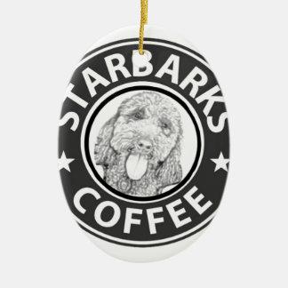 Ornamento De Cerâmica cão Starbucks