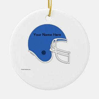 Ornamento De Cerâmica Capacete de futebol - luz - azul