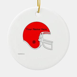 Ornamento De Cerâmica Capacete de futebol - vermelho