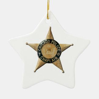 Ornamento De Cerâmica Capelão da polícia de Chicago