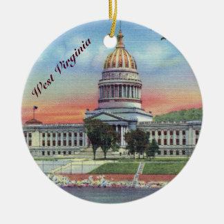 Ornamento De Cerâmica Capitólio do estado de West Virginia