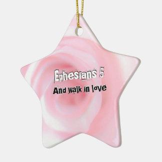 Ornamento De Cerâmica Capítulo 5 de Ephesians e caminhada no amor