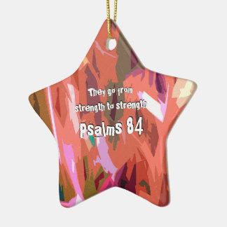 Ornamento De Cerâmica Capítulo 84 dos salmos