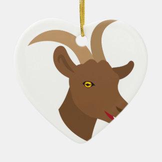 Ornamento De Cerâmica cara bonito masculina da cabra